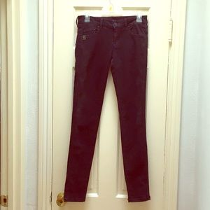 MNG Jeans - Low Rise Charcoal Black Skinny Size 2